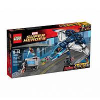 Конструктор LEGO Super Heroes Городская погоня на Квинджете Мстителей (76032)