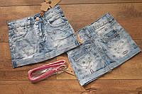 Джинсовая юбка для девочек 4- 6 лет