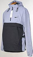 """Трикотажный Anorak Replica """"Nike"""" светло-серого цвета.Новинка!"""