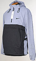 "Трикотажный Anorak ""Nike"" светло-серого цвета.Новинка!"