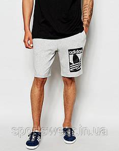 """Шорты Adidas ( Адидас ) серые чёрный принт """""""" В стиле Adidas """""""""""