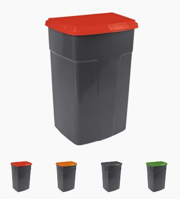 Бак для мусора 90л Алеана серый