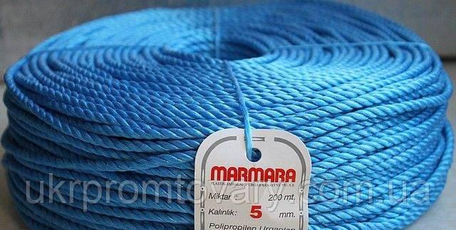 Веревка marmara д 5 мм 100 метров полипропиленовая крученая