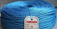 Веревка marmara д 6 мм 200 метров полипропиленовая крученая