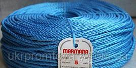 Веревка marmara д 5 мм 200 метров полипропиленовая крученая