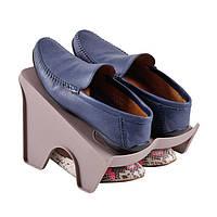 Подставка на две пары обуви коричневая L