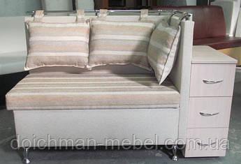 Эксклюзивный диван лавочка для прихожей с тумбочкой и нишей для вещей купить в Украине Мягкая мебель для кухни