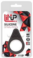 Виброкольцо Lit-Up Silicone Stimu Black 1 Red для стимуляции клитора + ПУПЫРЫШКИ
