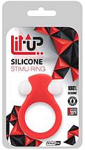 Виброкольцо Lit-Up Silicone Stimu Ring 2 Red для стимуляции клитора водостойкое