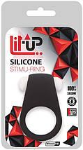 Виброкольцо Lit-Up Silicone Stimu Black 4 для стимуляции клитора водостойкое