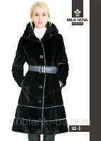 Модная женская шуба средней длины Н-3 .