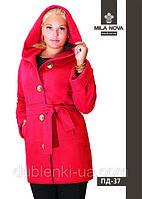 Модное женское пальто средней длины ПД-37 демисезонное