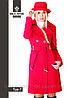Модное женское пальто средней длины Тур-7 демисезонное