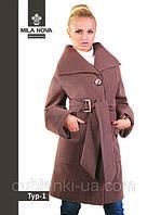 Модное женское пальто средней длины Тур-1 демисезонное