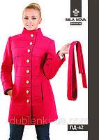 Модное женское пальто средней длины ПД-42 демисезонное.