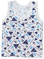 Майка (Белый с синим, wanted)