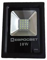 Светодиодный прожектор многоматричный Евросвет 10W (премиум)