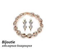 Комплект STYLE ювелирная бижутерия золото 18К декор Swarovski