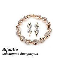 Комплект STYLE ювелірна біжутерія золото 18К декор Swarovski