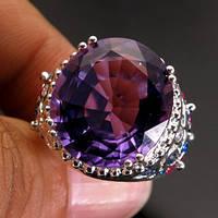 Кольцо серебро 925 пробы аметист 12,75 карат