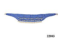 Пояс для восточных танцев синий
