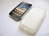 Чехол силиконовый Samsung Galaxy Y Duos GT-S6102 белый