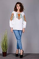 Оригинальная женская вышитая сорочка на натуральной ткани
