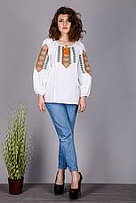 Оригінальна жіноча вишиванка на натуральної тканини, фото 3