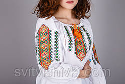 Оригинальная женская вышитая сорочка на натуральной ткани, фото 2