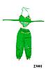 Костюм для восточных танцев детский зеленый