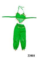 Купить костюм для восточных танцев детский зеленый