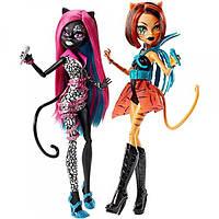 Куклы Монстер Хай Кэтти Hуар Торалей Страйп Пугающие Рокерши (Monster High Catty Noir and Toralei Stripe)