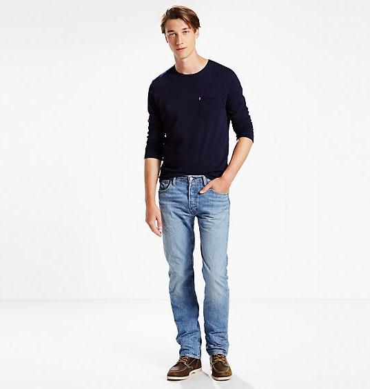 Легкие джинсы Levis 501 - Yellow Canyon ( 33W x 34L)