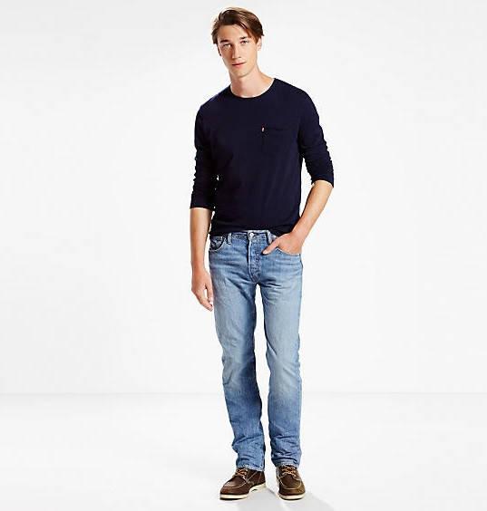 Легкие джинсы Levis 501 - Yellow Canyon