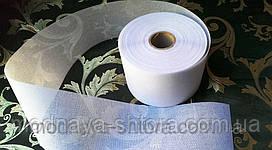 Люверсная лента для штор, 10 см, клеевая, белая