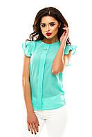 Блуза с планкой летняя мята 080