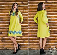 Оливковое платье 152038