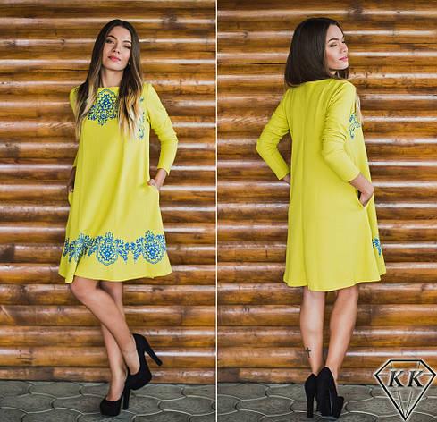 Оливковое платье 152038, фото 2