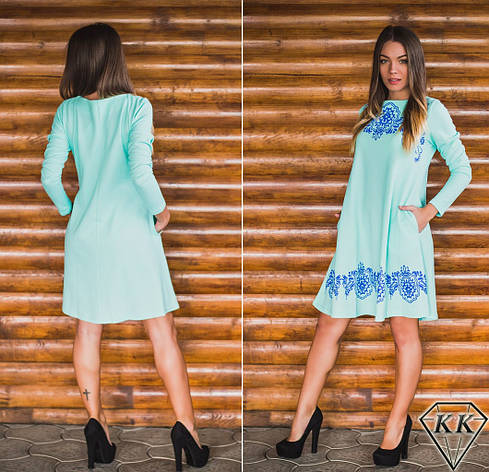 Ментоловое платье 152038, фото 2