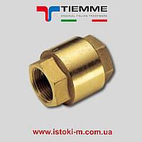 """Обратный клапан YACHT с металлическим затвором 1 1/4"""" ВВ TIEMME"""