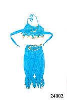 Костюм для восточных танцев взрослый голубой