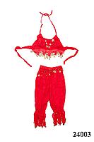 Костюм для восточных танцев взрослый красный