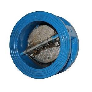 Клапан зворотній міжфланцевий двустворчатий підпружинений чавунний РУ16 Ду 150