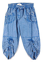Бриджи джинсовые ( тонкие) для девочки 152 р.