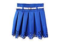 Детская юбка перфорированая синяя, фото 1
