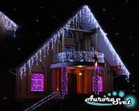 Праздничная архитектурная подсветка. LED подсветка сооружений. Светодиодное освещение зданий.