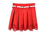 Детская юбка перфорированая красная, фото 1