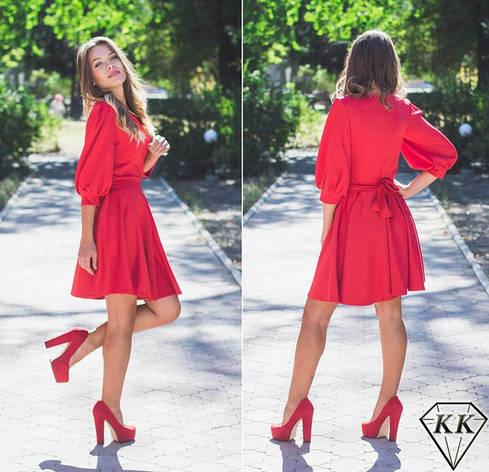 Красное платье 15868, фото 2