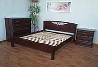 """Кровать двуспальная """"Фантазия"""". Массив - сосна, ольха, дуб."""