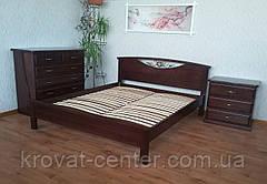 """Белая двуспальная кровать из массива натурального дерева """"Фантазия"""", фото 2"""